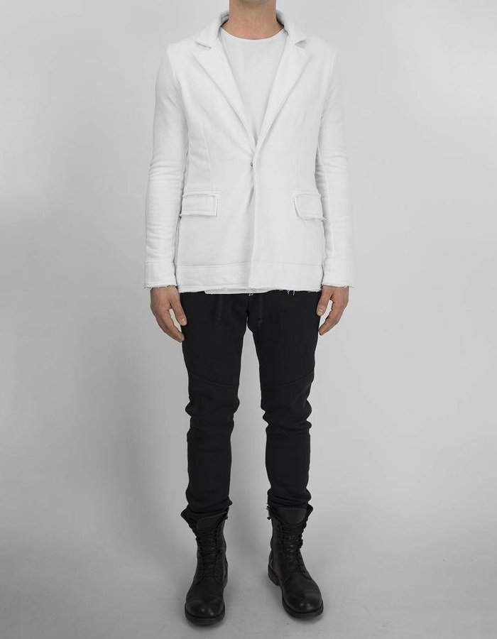 DAVID'S ROAD COTTON BLAZER WHITE