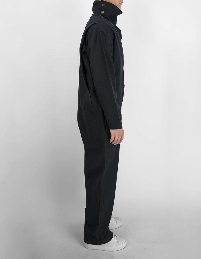 SANDRINE PHILIPPE JUMPSUIT WITH DOUBLE ZIPS AND DRAPED COLLAR
