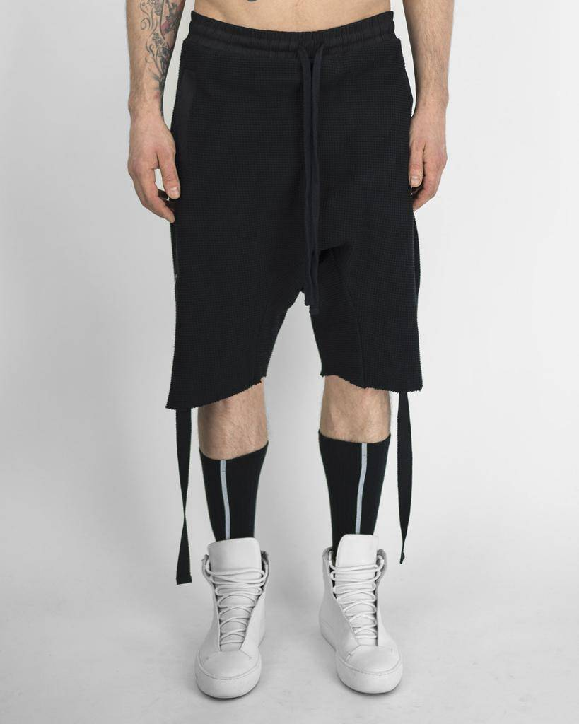 SHORTS WITH SIDE STRINGS - BLACK