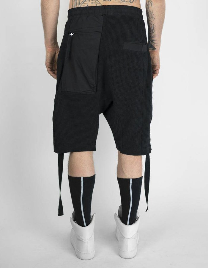 THOM KROM SHORTS WITH SIDE STRINGS - BLACK