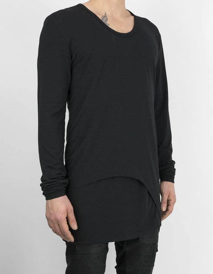 ARMY OF ME PANELED L/S JERSEY TOP BLK