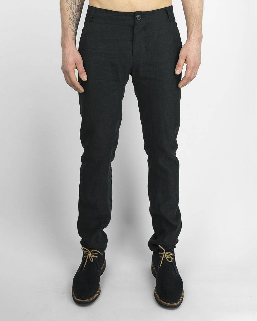 HARMEN LINEN TAILORED TROUSERS BLK