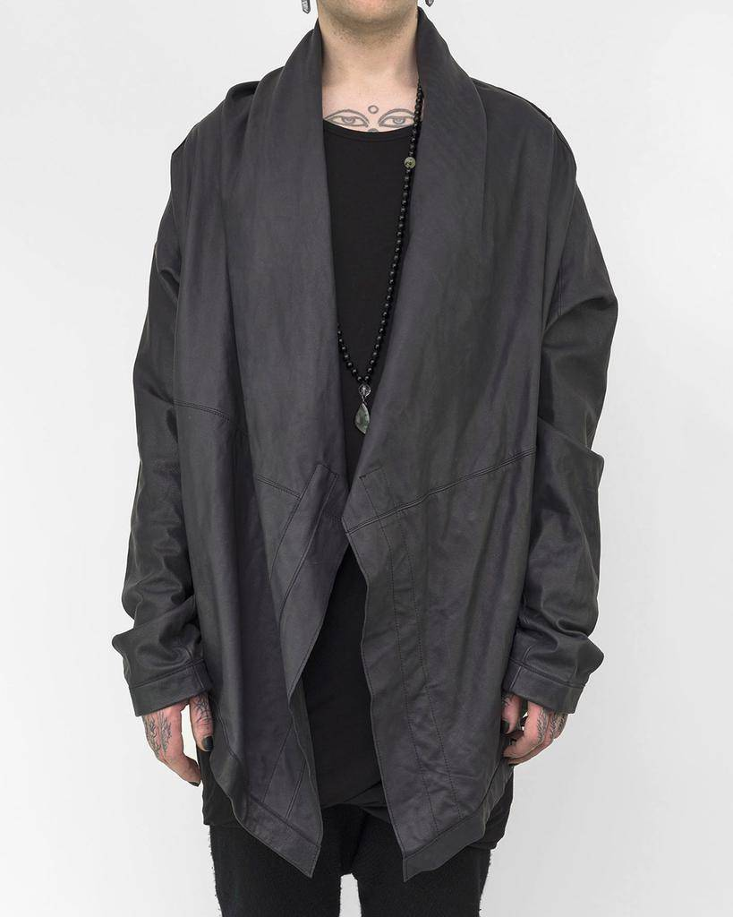 PADDED LEATHER CAPE