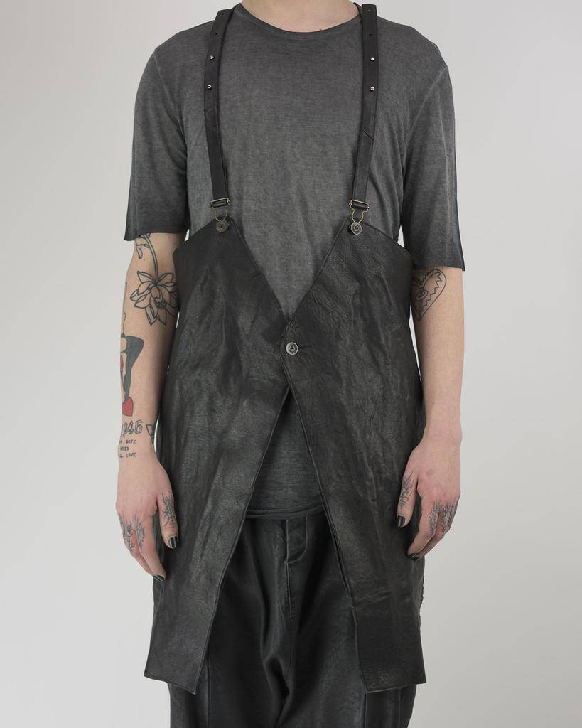 LEATHER APRON VEST WITH POCKETS