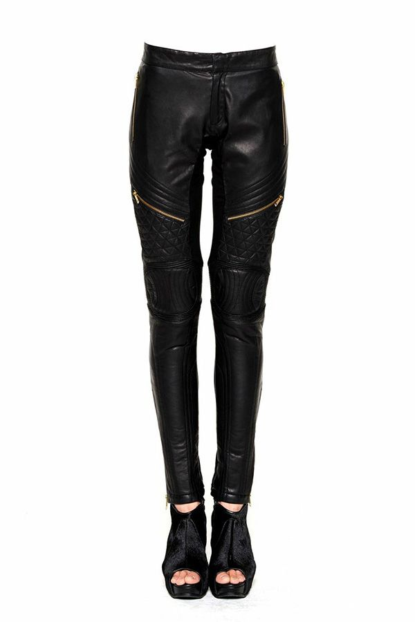 QUILTED LEATHER LEGGINGS