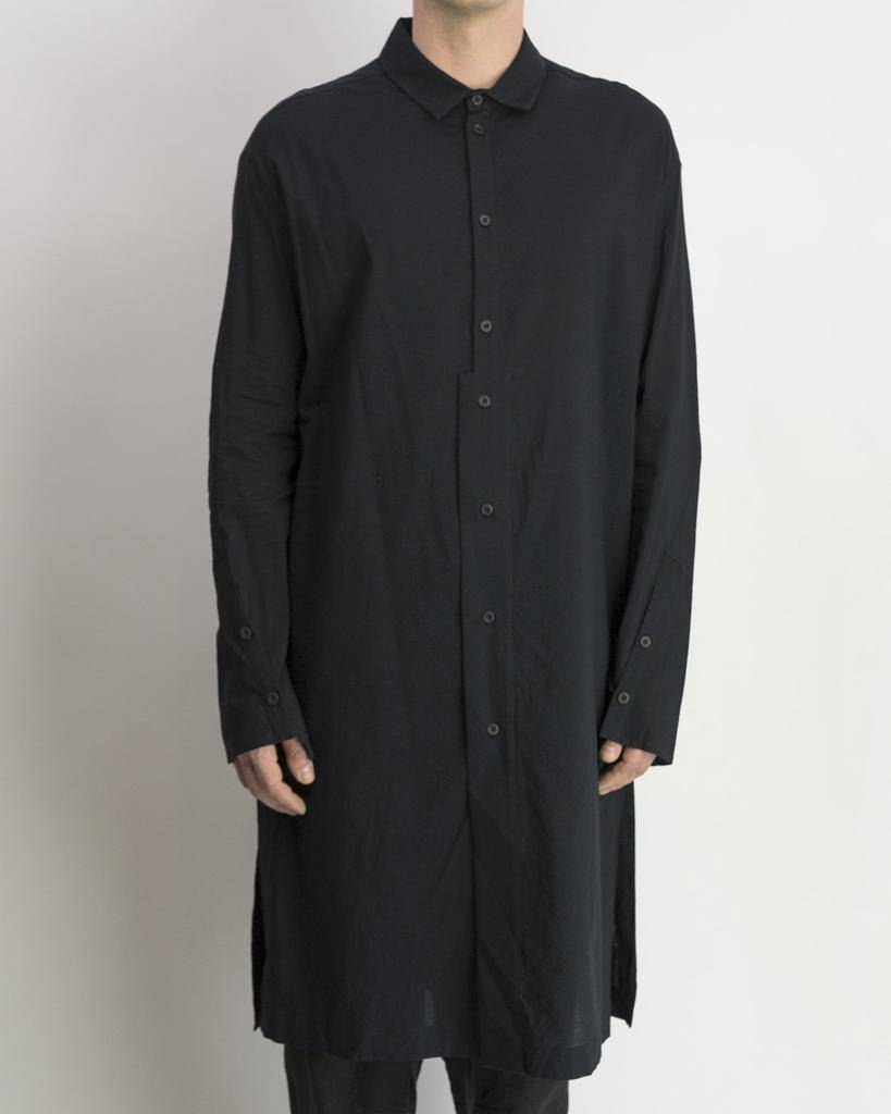 LONG SHIRT COTTON -BLACK