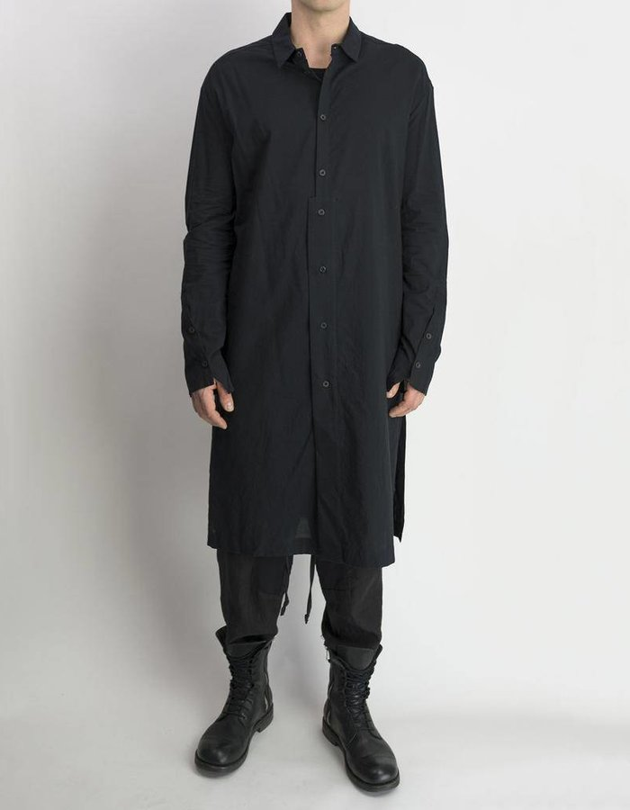 LOST AND FOUND LONG SHIRT COTTON -BLACK
