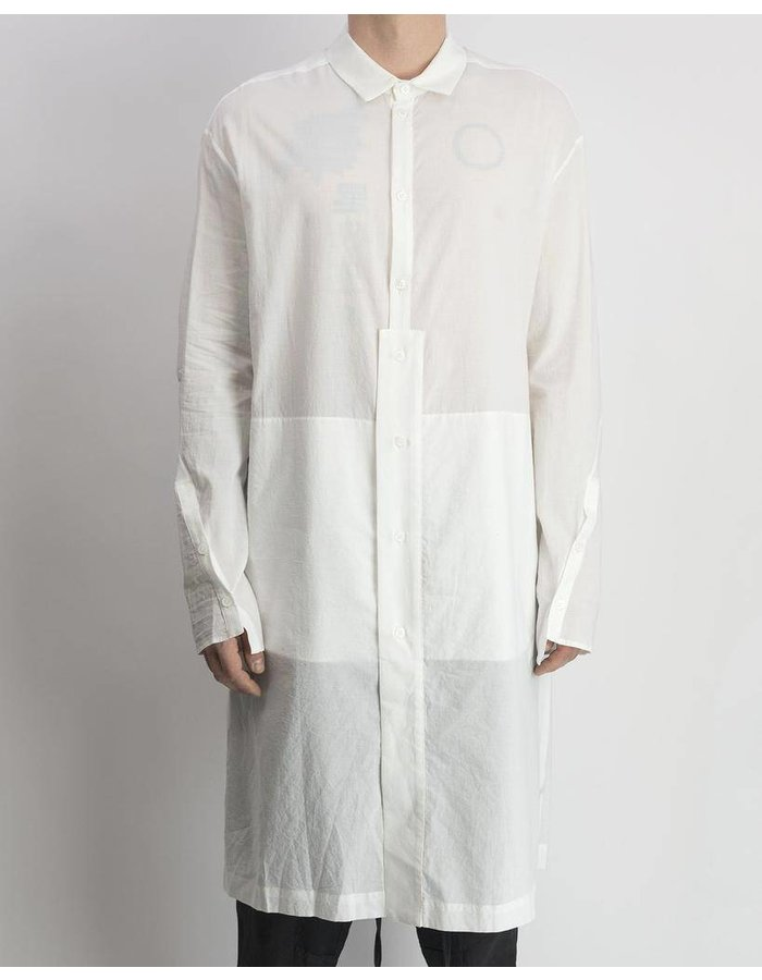 LOST AND FOUND LONG SHIRT COTTON WHITE