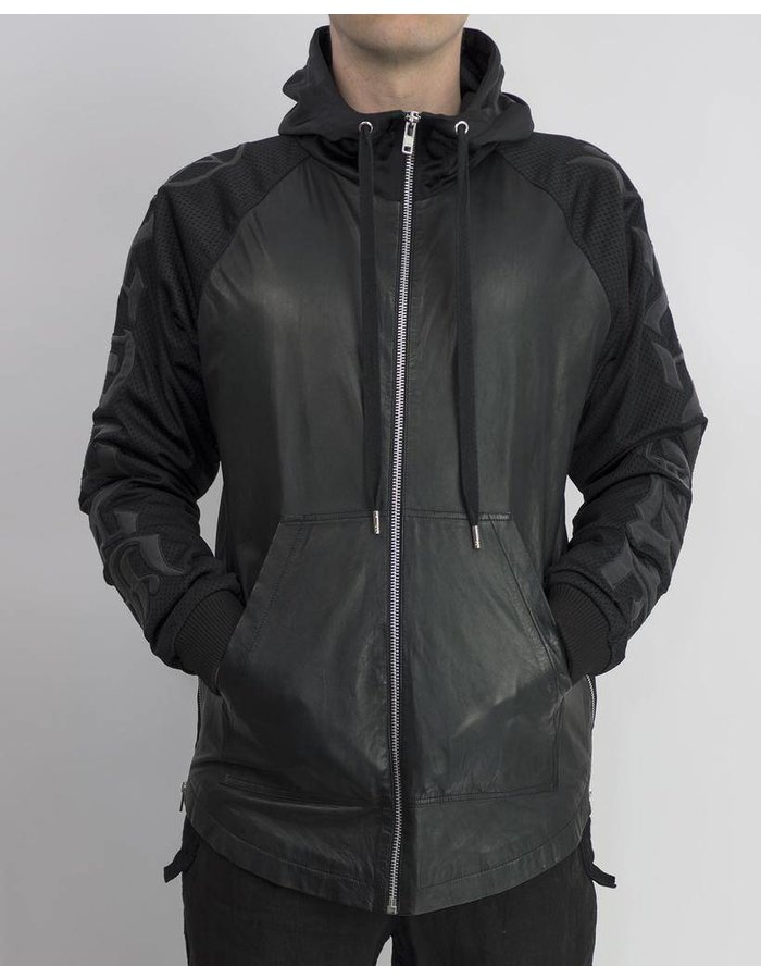 SKINGRAFT SANTA SANGRE HOODY LEATHER