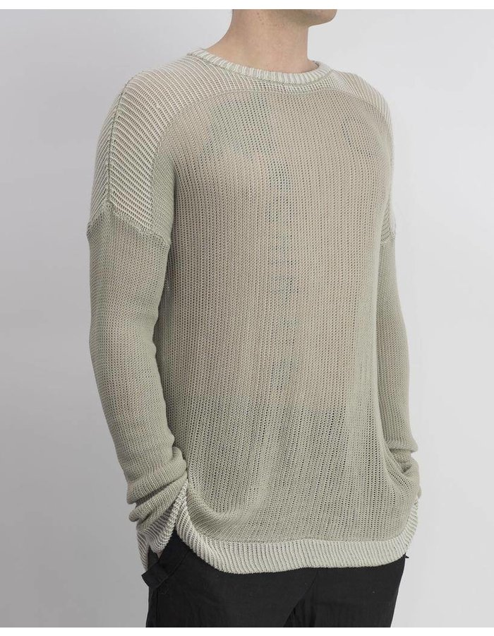 LOST AND FOUND ROOMS COTTON KNIT CREW SWEATER :SAND