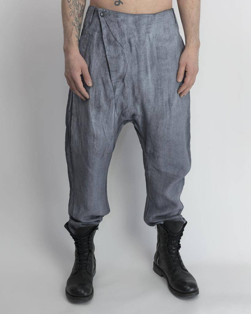 LINEN FLIGHT PANT RESIN GRY/WHT