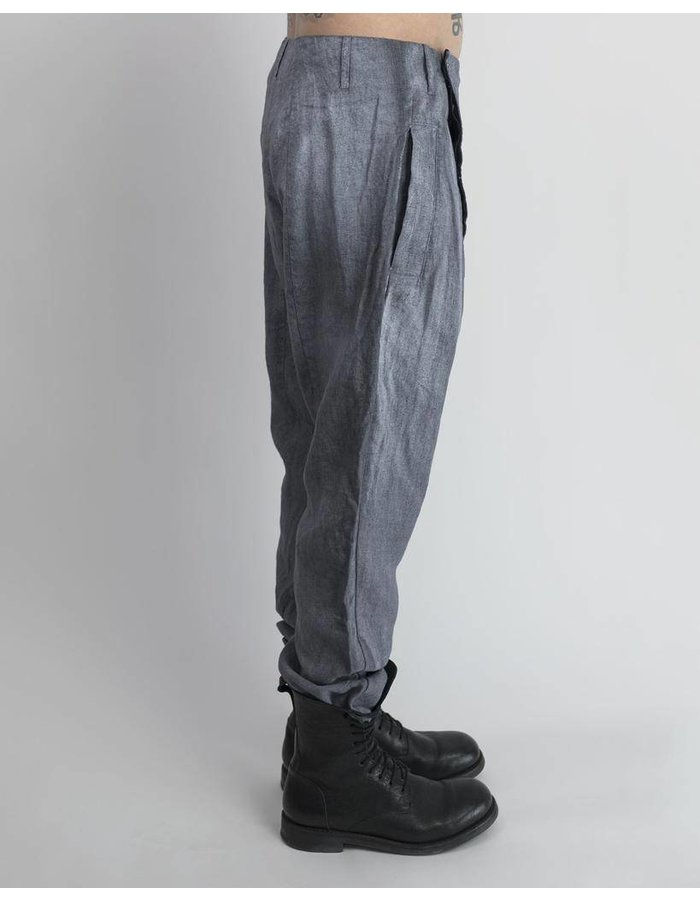 LOST AND FOUND LINEN FLIGHT PANT RESIN GRY/WHT