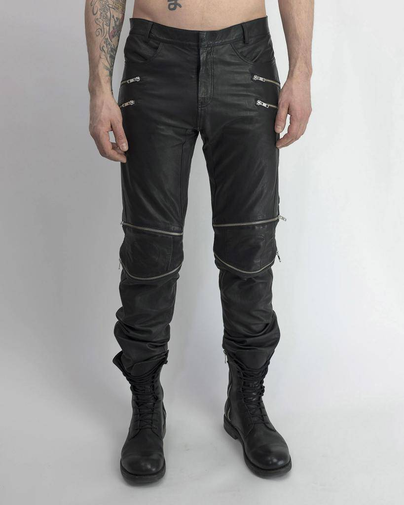 LEATHER MOTOCROSS PANTS