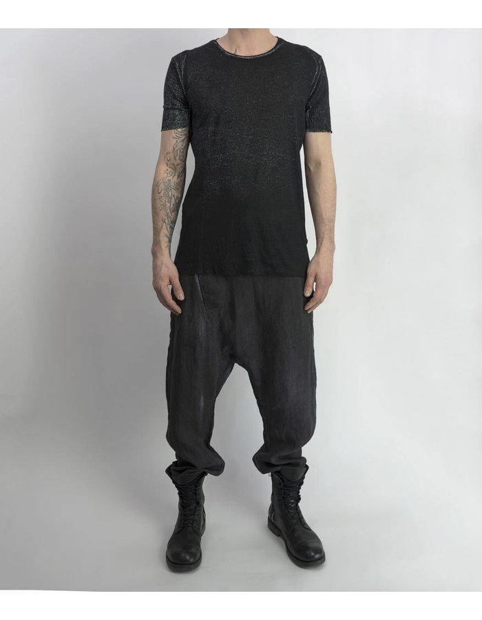 LOST AND FOUND LINEN FLIGHT PANT RESIN GRY/BLK