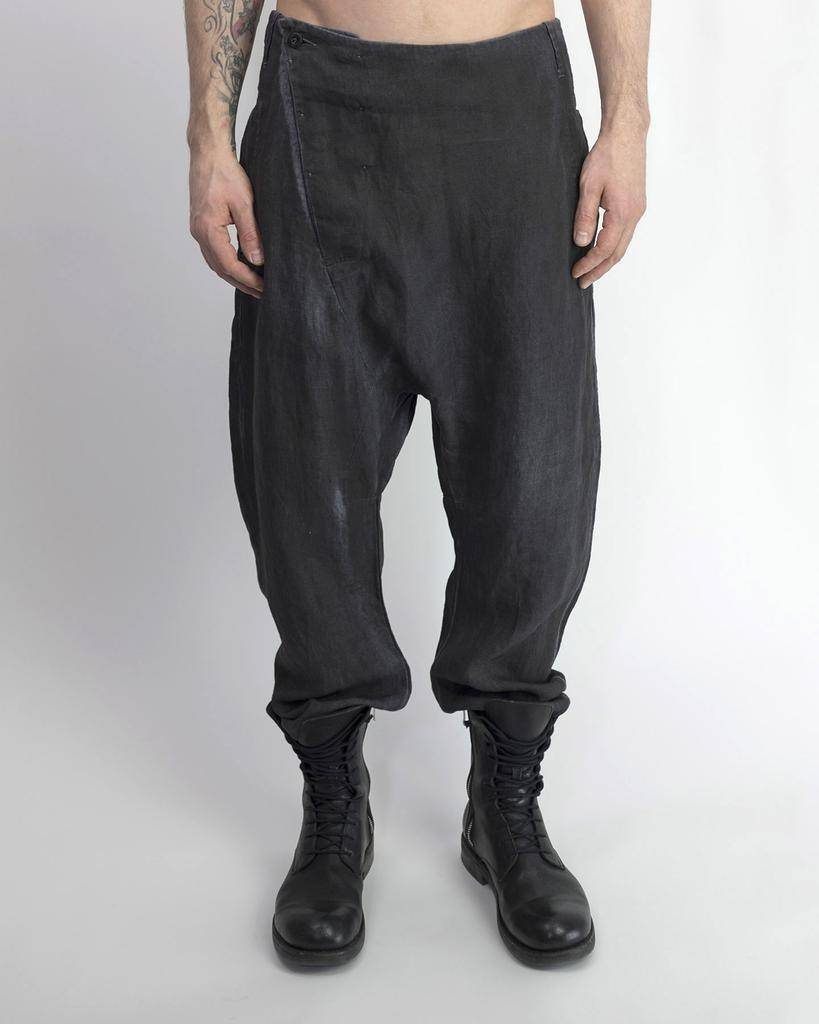 LINEN FLIGHT PANT RESIN GRY/BLK