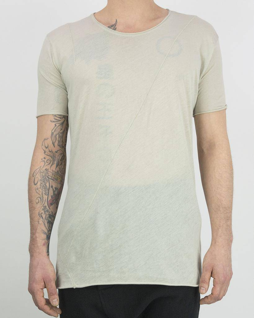 BASIC -SHIRT WITH CROSS BACK  SEAMS , STONE