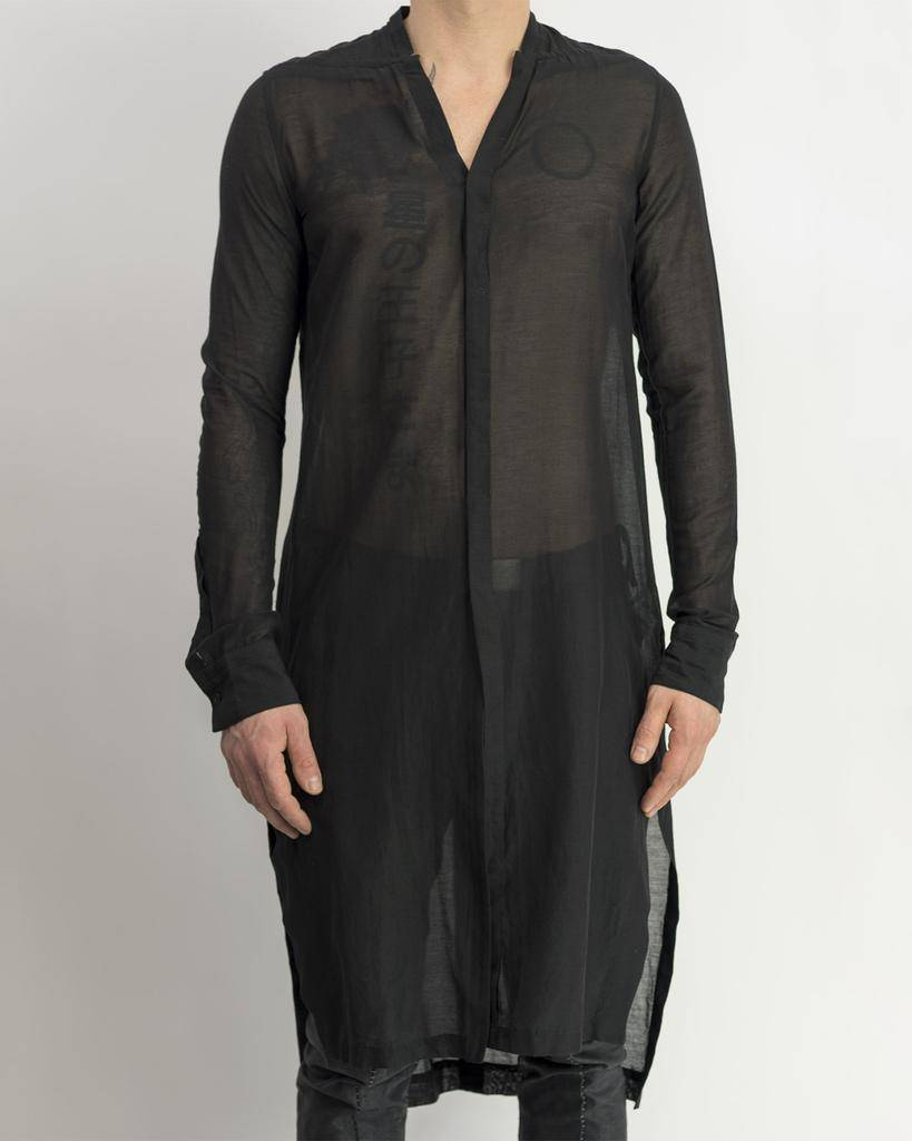 COT SILK LONG SHEER SHIRT