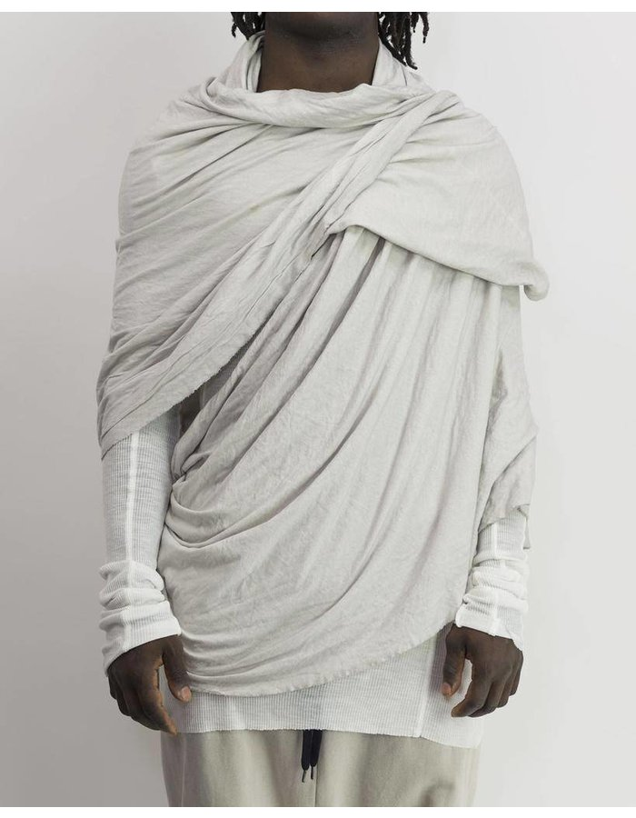 THOM KROM RIBBED COTTON BIG SCARF