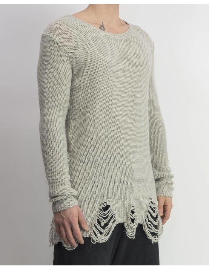 FIRST AID TO THE INJURED LUMBAR KNIT SWEATER-CLOUD