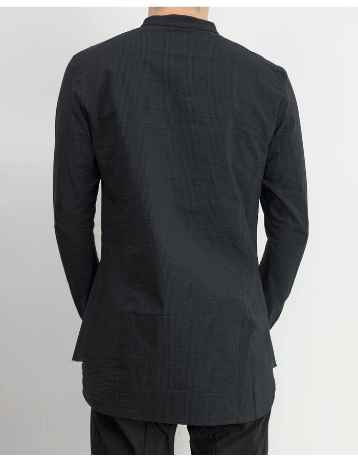 MASNADA DROP TAIL SHIRT - BLACK