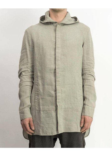 MASNADA HOODED QUAD SHIRT - ASH