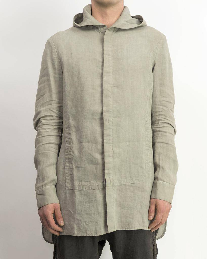 HOODED QUAD SHIRT - ASH