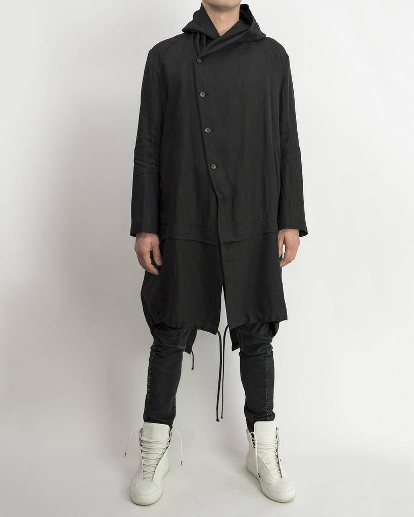 LAYERED PARKA - BLACK
