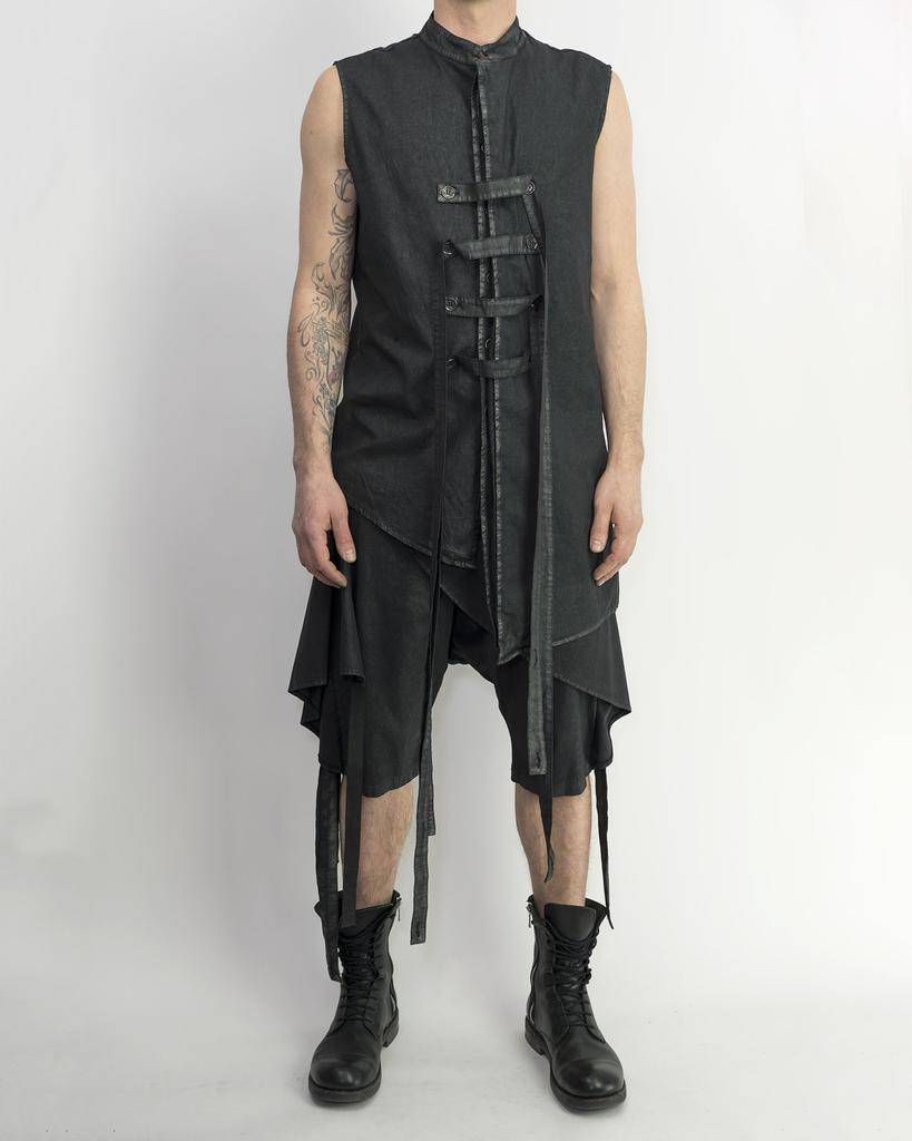 WAXED STRAP VEST
