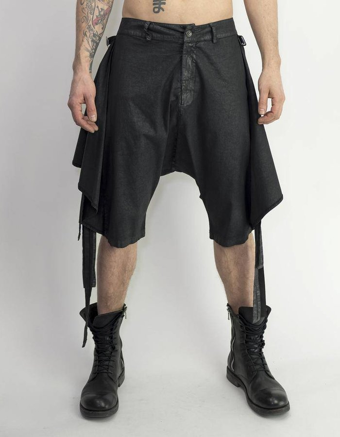 LA HAINE INSIDE US SKIRTED STRAP DROP CROTCH SHORT