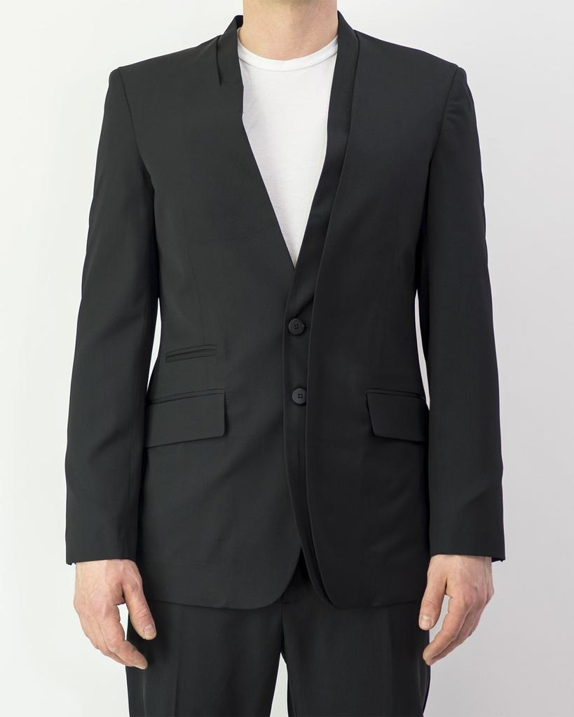 DOUBLE COLLAR DETAILED JACKET