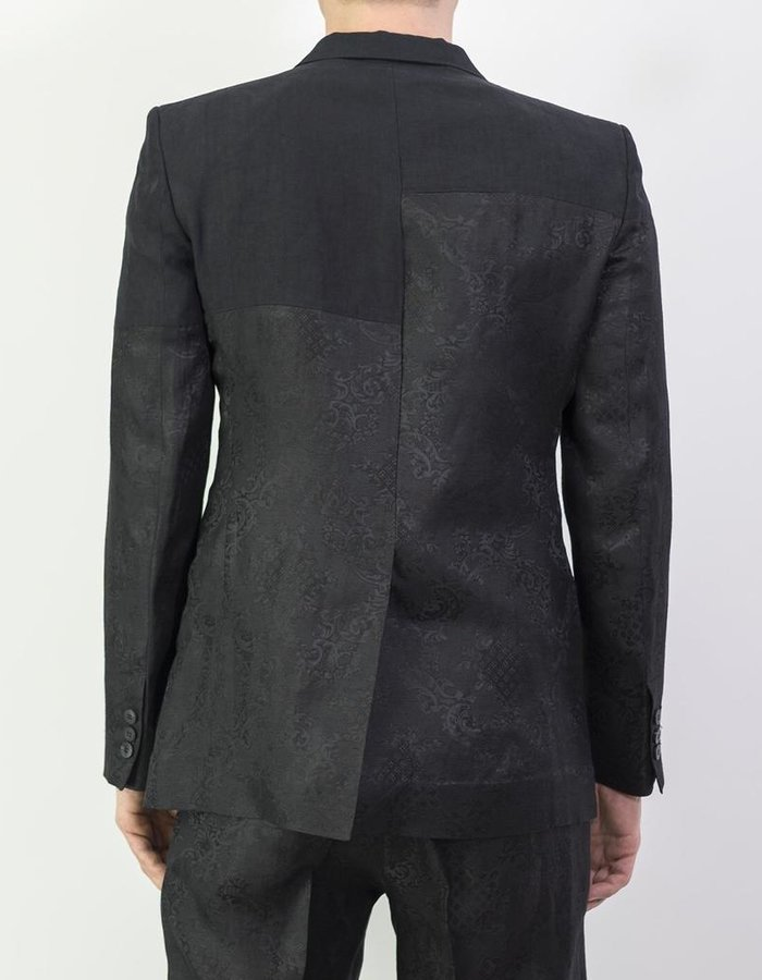 ISABEL BENENATO JACQUARD PATCHWORK TAILORED JACKET