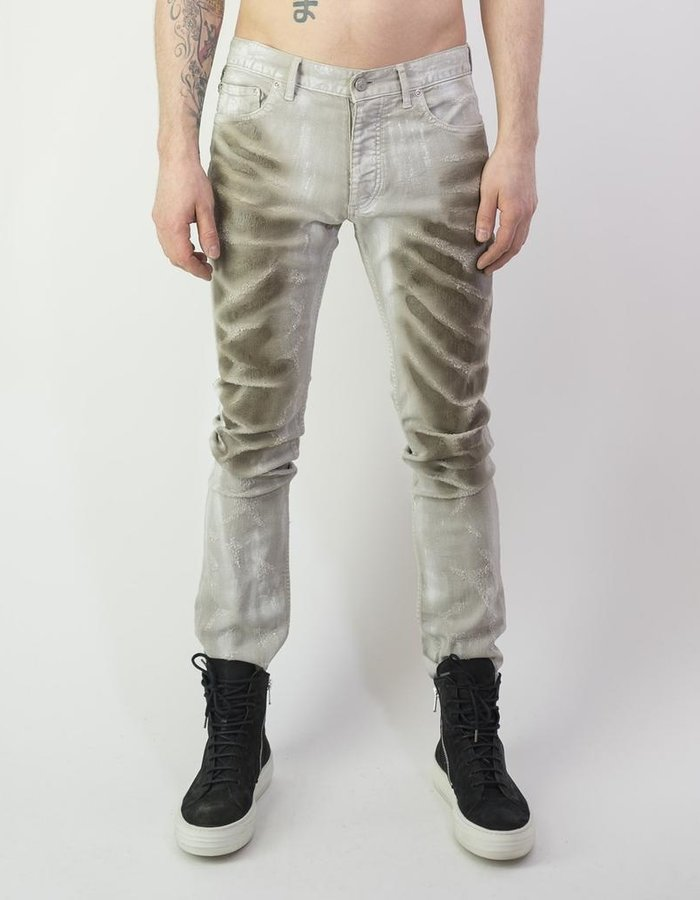 "FAGASSENT ""ANDERSON"" SCALE COATED SLASH DENIM"