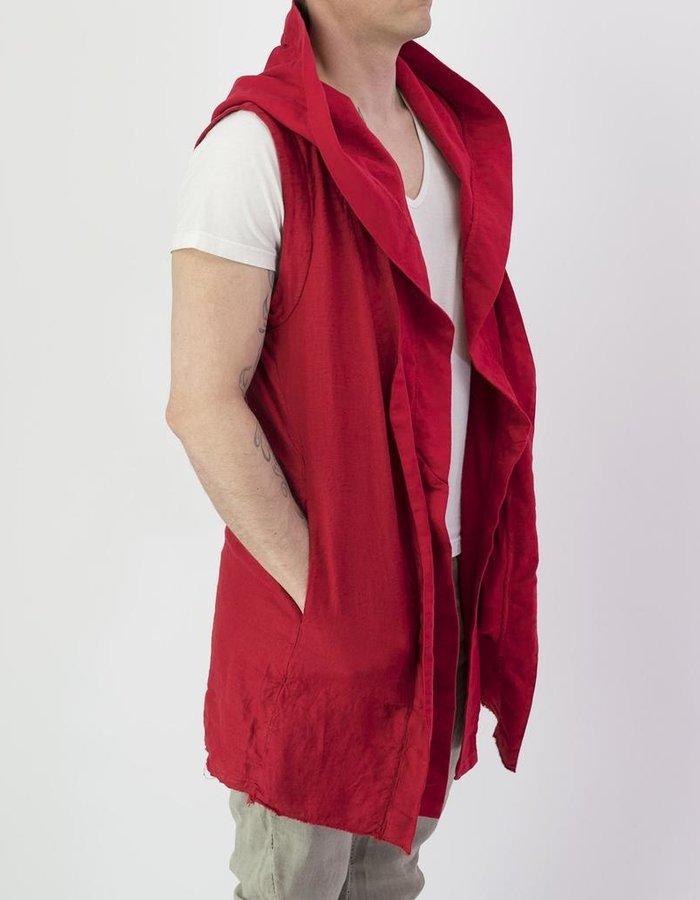 ANDREA YA'AQOV LINEN VEST : RED