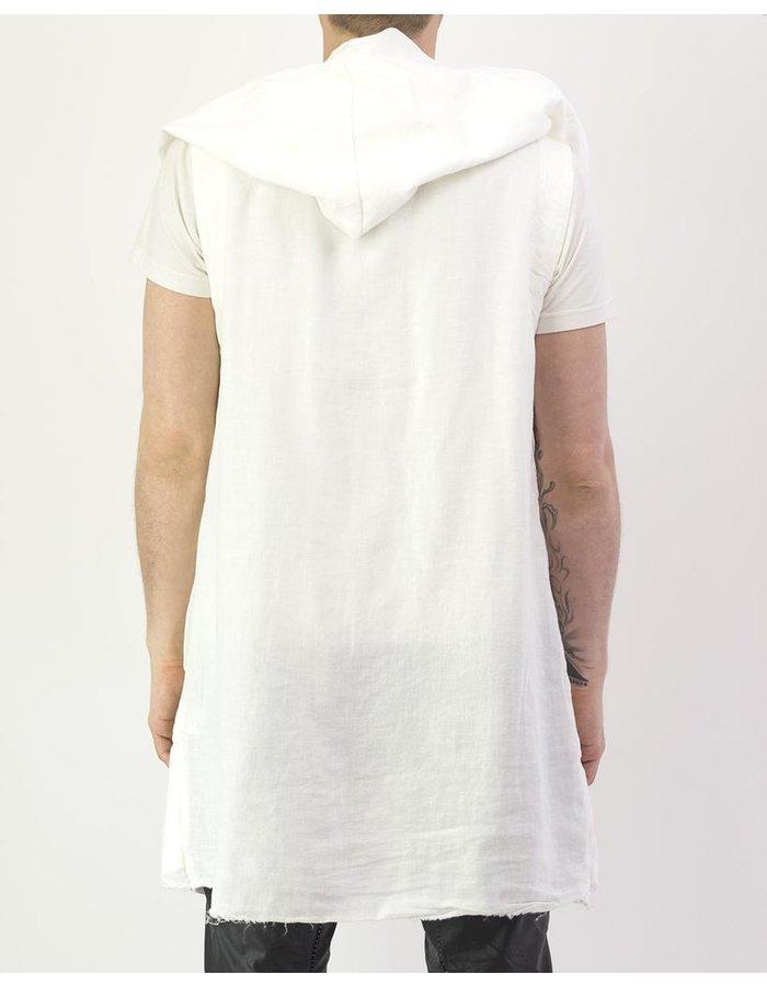 ANDREA YA'AQOV LINEN VEST : WHITE