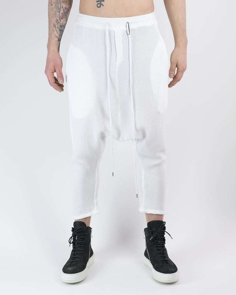 STRUCTURED CROPPED COTTON TROUSERS 43