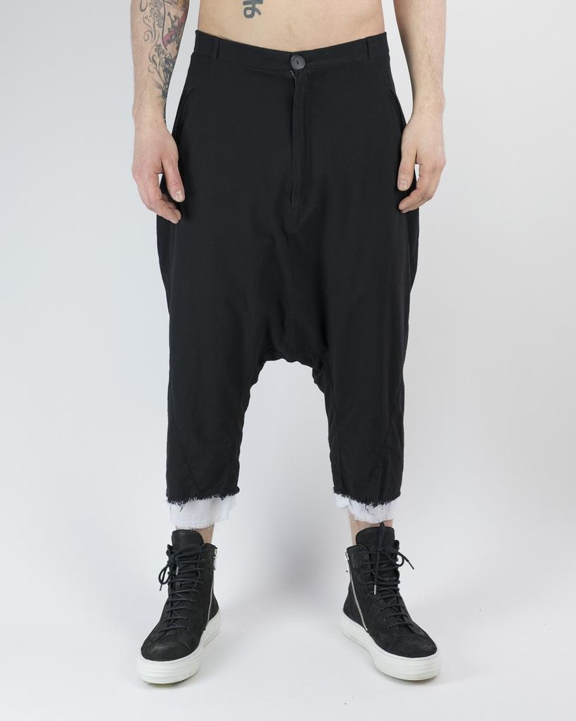 DOUBLE LAYERED COTTON TROUSERS 40