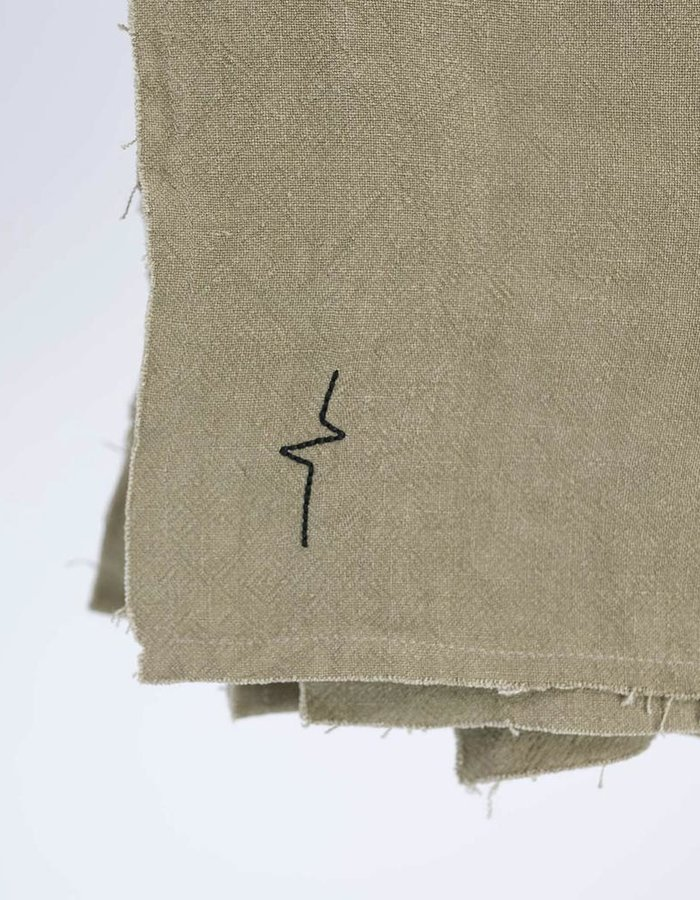 FIRST AID TO THE INJURED RAW EDGE LINEN SCARF