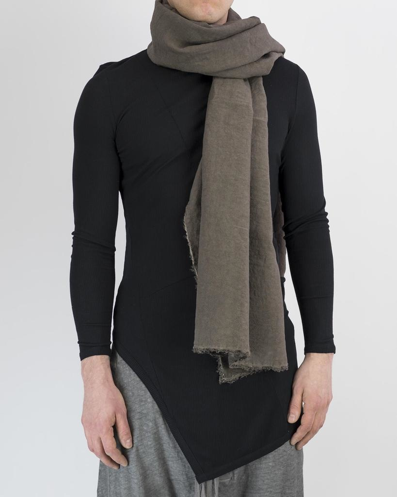 RAW EDGE LINEN SCARF