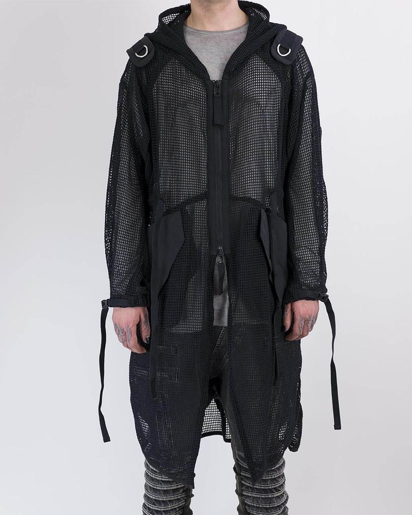 KRAKEN PERFORATED NET SHOULDER STRINGS COAT