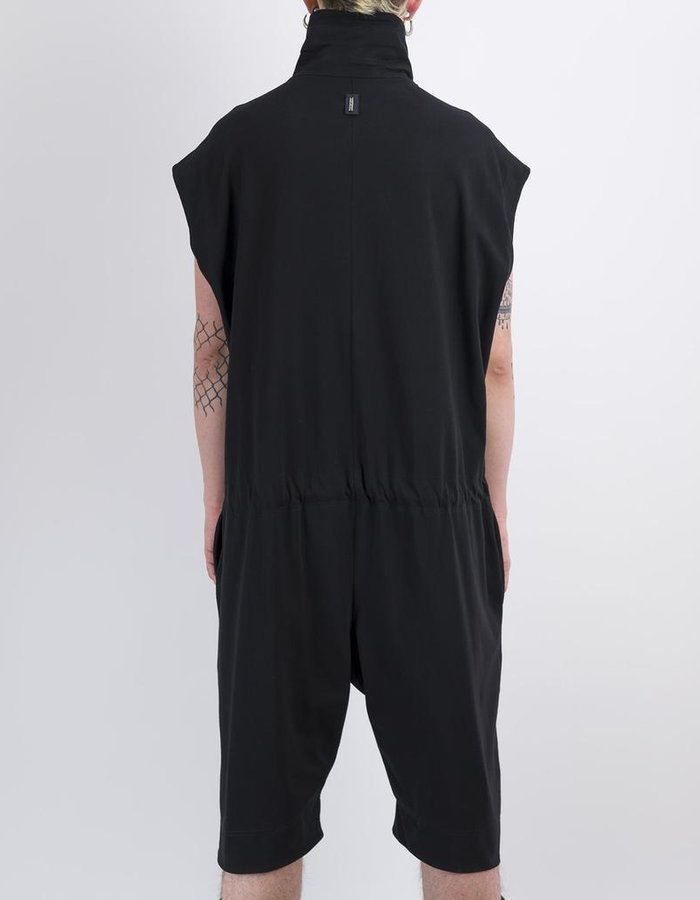DAVID'S ROAD SLEEVELESS COTTON JUMPSUIT W/ DRAWSTRINGS