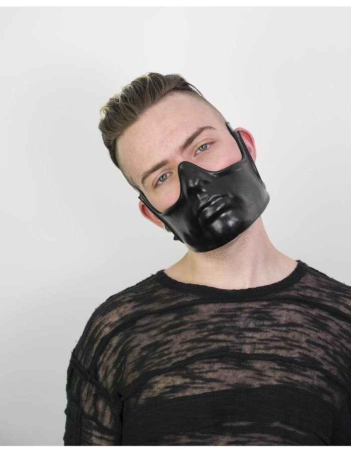 CECILIO LEATHER DESIGNS HALF FACE MASK