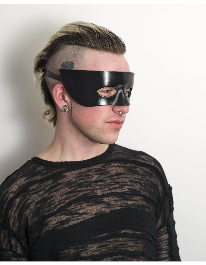 CECILIO LEATHER DESIGNS SIMPLE MASQUERADE EYE MASK