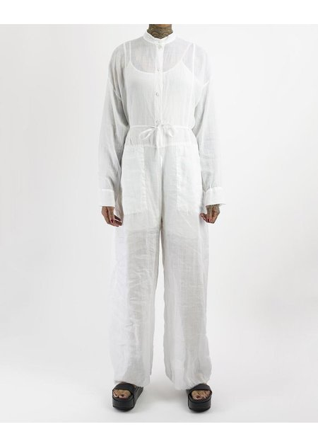 MASNADA COLLARLESS BOILER SUIT - WHITE