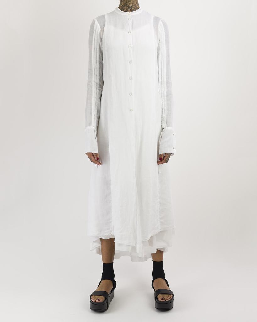 LONG FULL BACK SHIRT - WHITE