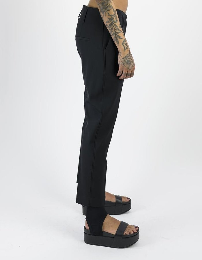 ISABEL BENENATO LIGHTWEIGHT WOOL PANT WITH PIPING