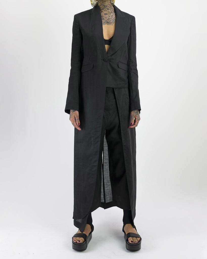 ADJUSTABLE ASYMMETRIC RAMIE JACKET