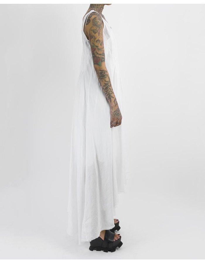 MASNADA PLEATED DRESS - WHITE