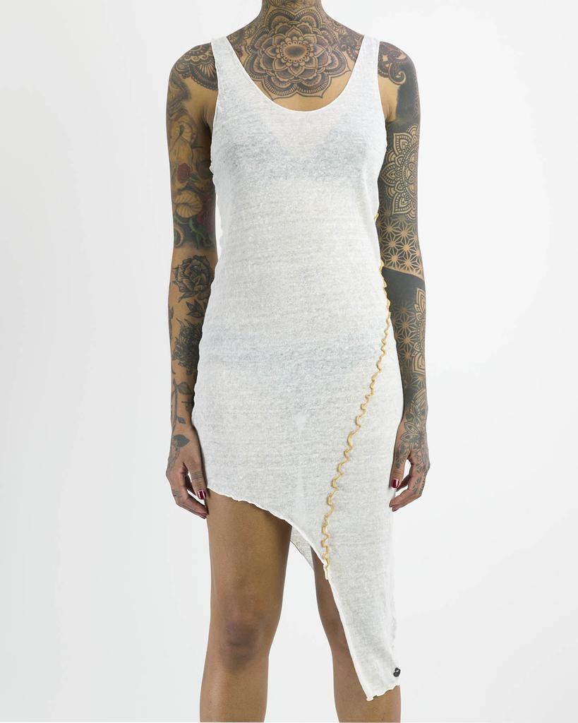 LINEN ASYMMETRIC DRESS
