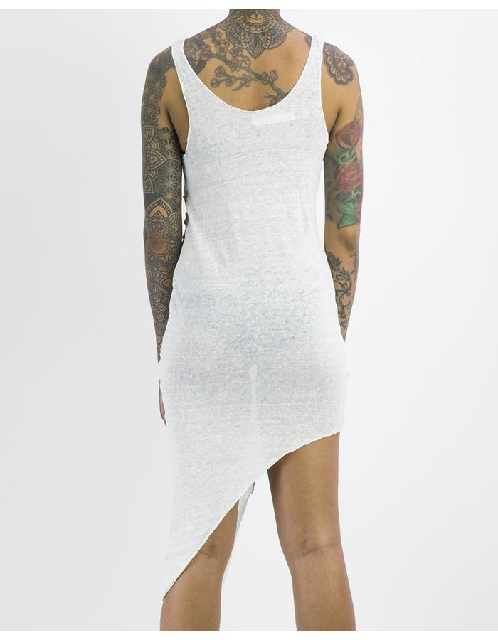 NOSTRA SANTISSIMA LINEN ASYMMETRIC DRESS
