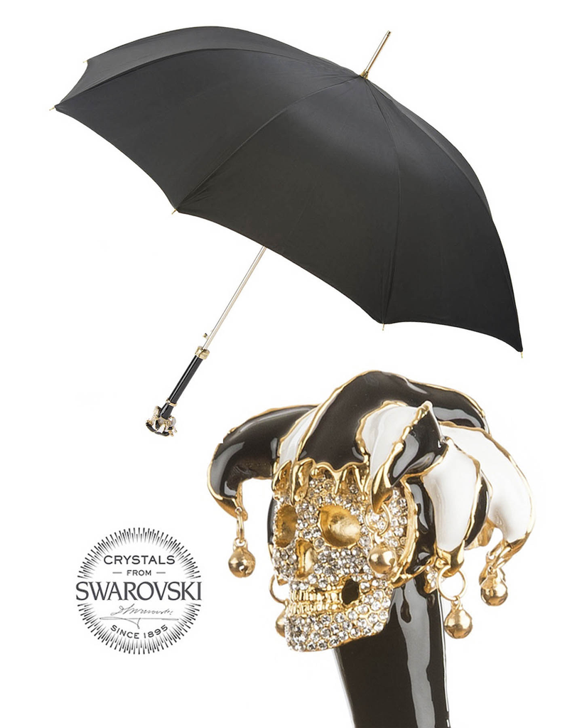 CRYSTAL SKULL JESTER UMBRELLA